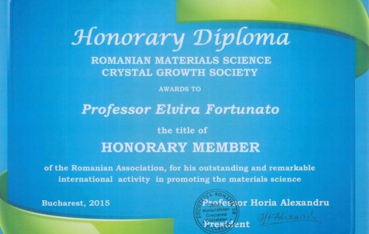 A Associação Romena de Ciência dos Materiais e Crescimento de Cristais distingue
