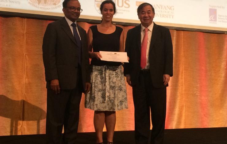 Lídia Santos ganha prémio de melhor poster na Conferência ICMAT 2015