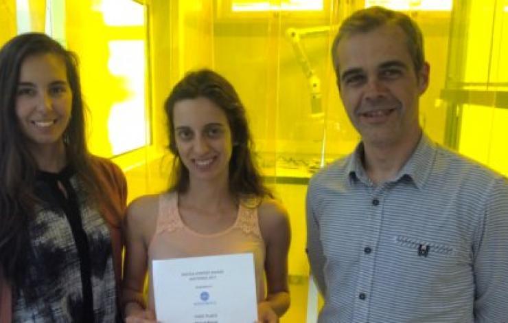 Raquel Barras, Investigadora do CENIMAT|i3N ganhou  o  prémio de melhor poster n